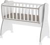 Lorelli 'First Dreams' Babywiege, braun, 4 Räder mit Bremsfunktion, umbaubar