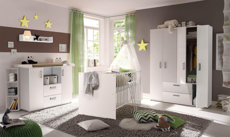 Storado 'Sydney' 5-tlg. Babyzimmer-Set weiß Bild 1