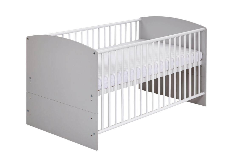 Schardt 'Classic Grey' Kombi-Kinderbett weiß / grau Bild 1