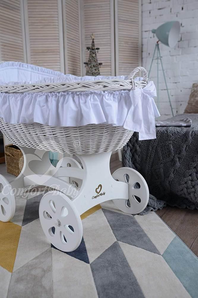 ComfortBaby 'XL Baby' Stubenwagen weiß Bild 1