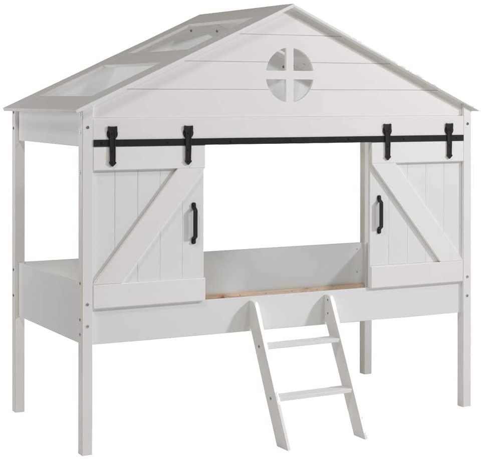 Vipack 'Barnie' Hausbett 90 x 200 cm, ohne Lattenrost, Weiß lackiert Bild 1