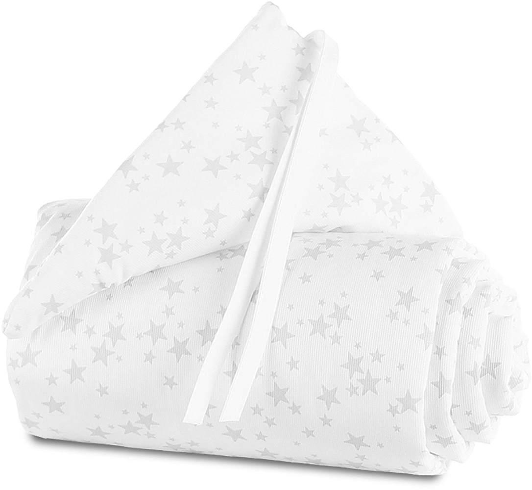Babybay 'Piqué' Bettnestchen für Maxi, Boxspring und Comfort weiß/grau, Sterne Bild 1