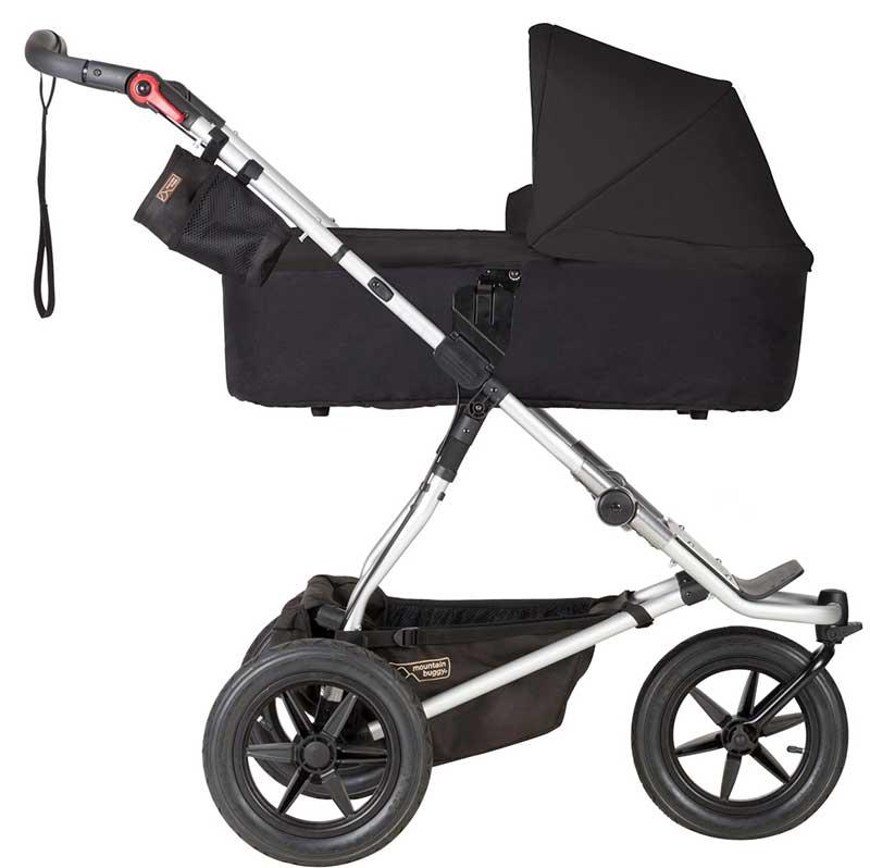 Mountain Buggy 'Urban Jungle 3' Kombikinderwagen Black mit Babyschale in Soho Grey Bild 1