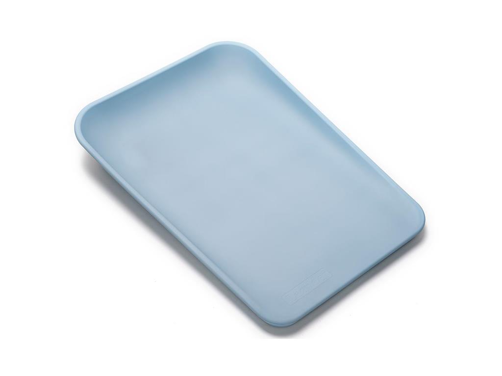 Leander Matty Wickelauflage + Topper + Gratis Hoodie Pale Blue Dusty Blue Bild 1