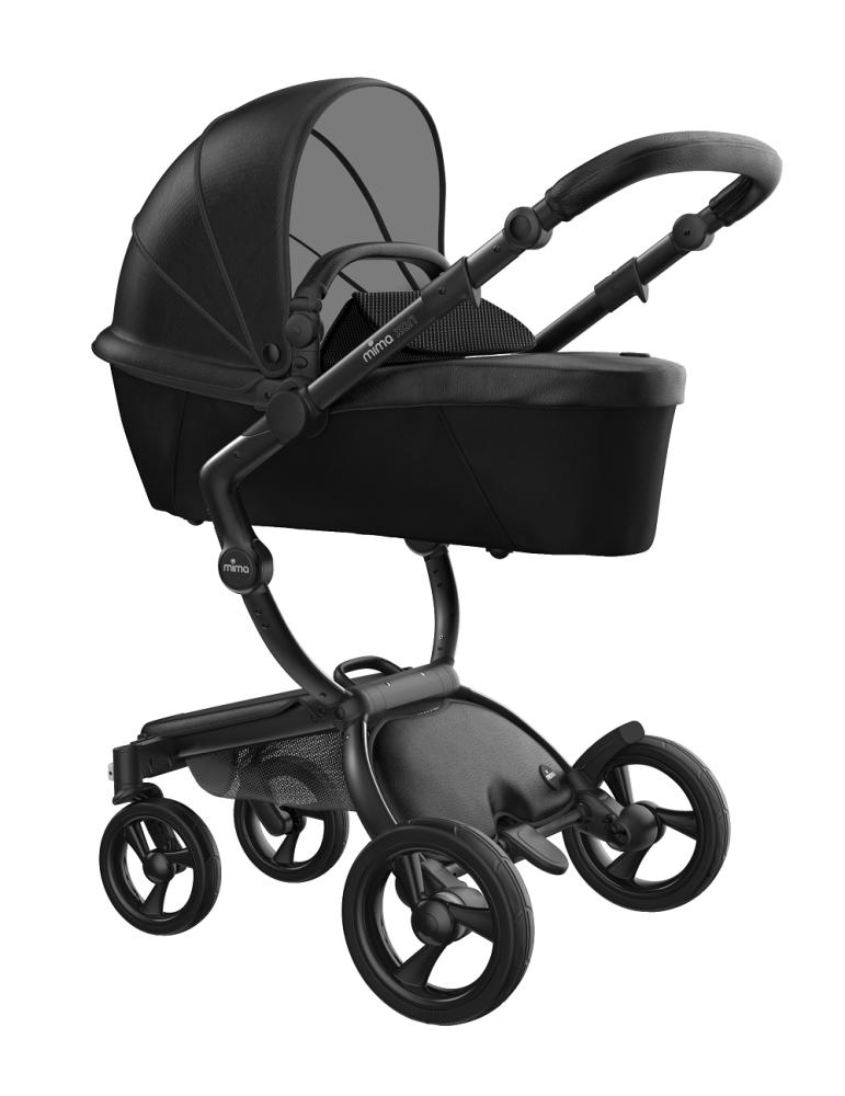 Mima Xari Design Kinderwagen Kollektion 2021 Schwarz (Schwarze Räder) Schwarz Bild 1