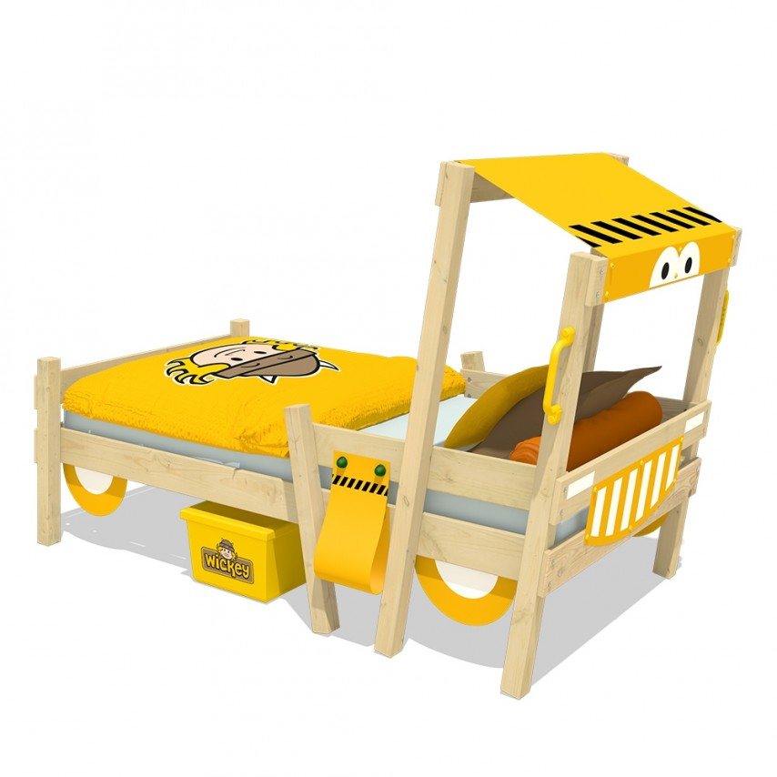 Wickey 'Crazy Sparky Fun' Einzelbett natur, Plane gelb,90x200cm Bild 1