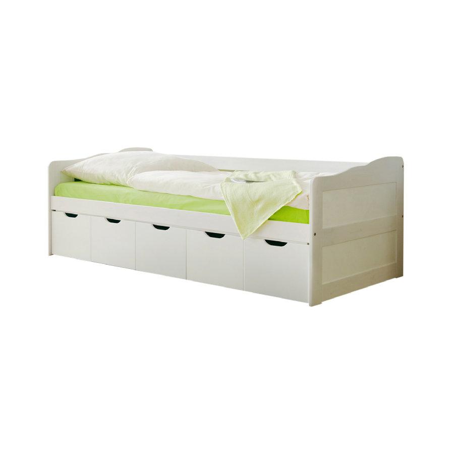 Ticaa 'Maria' Sofabett mit Schubkästen weiß 90x200 cm Bild 1