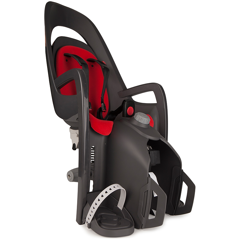 Hamax 'Caress C2' Fahrradsitz inkl. Gepäckträger-Adapter grau/rot Bild 1