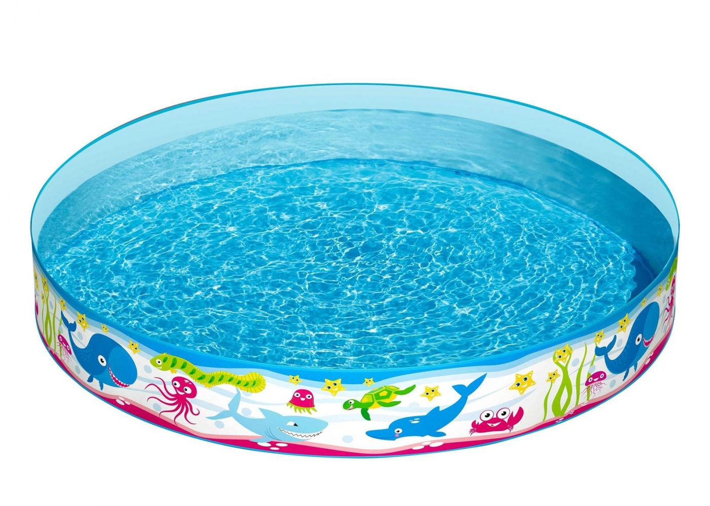 """Bestway 'Fill'N Fun """"Unterwasserwelt""""' Planschbecken, Ø 152 x 25 cm, ab 2 Jahren, 435 Liter Wasserkapazität Bild 1"""