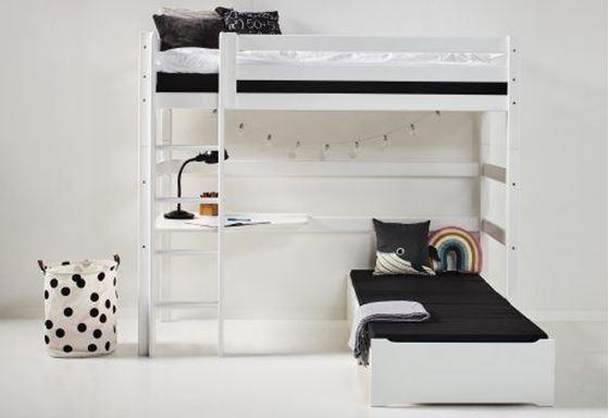 Hoppekids 'Premium' Funktionsbett weiß, inkl. Ausstattung und Rollrost Bild 1