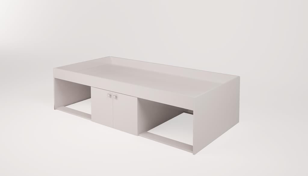 Polini Kids Einzelbett 'Simple 3000' weiß, 90x190 cm Bild 1