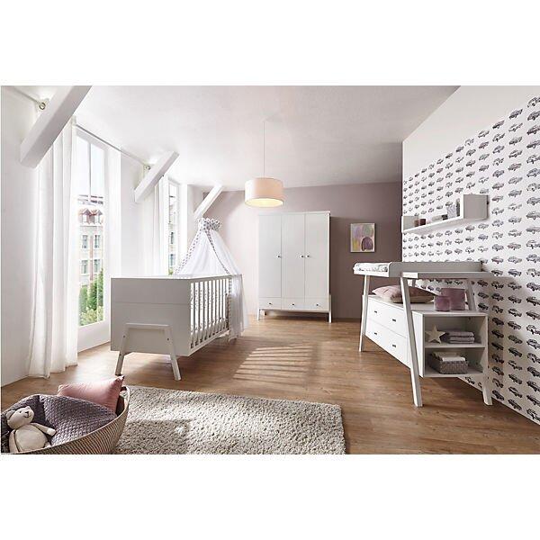Schardt 'Holly White' 2-tlg. Babyzimmer-Set weiß, inkl. Kinderbett und Wickelkommode Bild 1