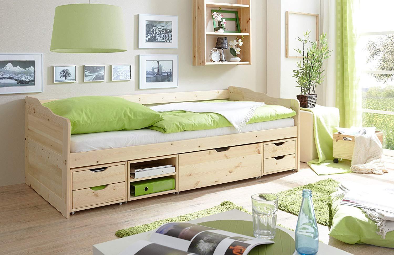 Ticaa 'Marlies' Sofabett mit Schubkästen Kiefer - natur 90x200 Bild 1