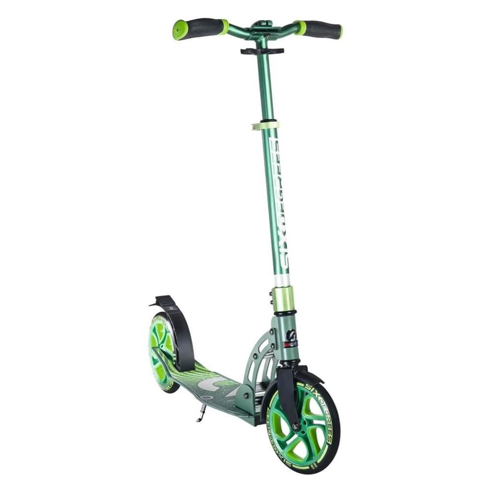 Six Degrees 511 'Aluminium Scooter 205 mm' Scooter, ab 6 Jahren, 5-fach höhenverstellbar bis 102 cm, klappbar, max. belastbar bis 100 kg, grün Bild 1