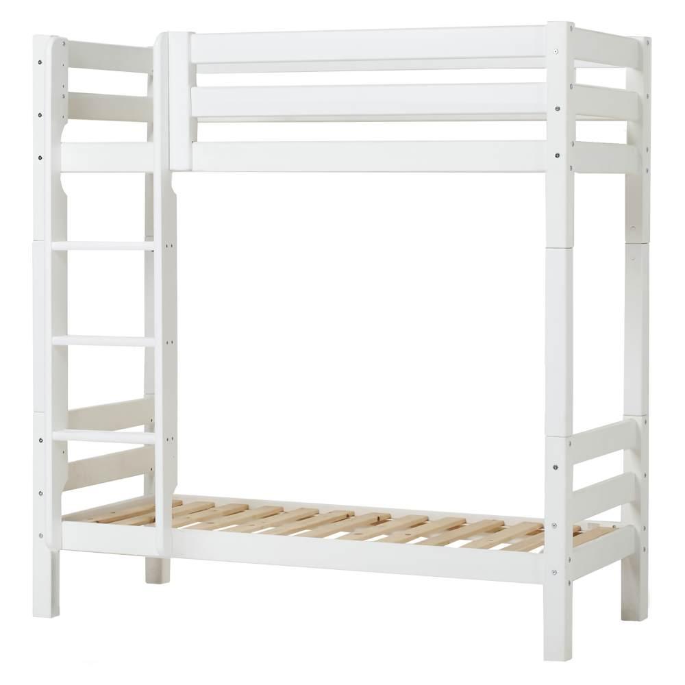 Hoppekids Hohes Etagenbett Hoppekids PREMIUM mit gerader Leiter und Liegefläche 70 x 160 cm - weiß Bild 1