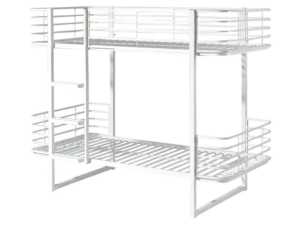 Vipack 'Oscar' Etagenbett 90x200 cm, weiß, Metall Bild 1