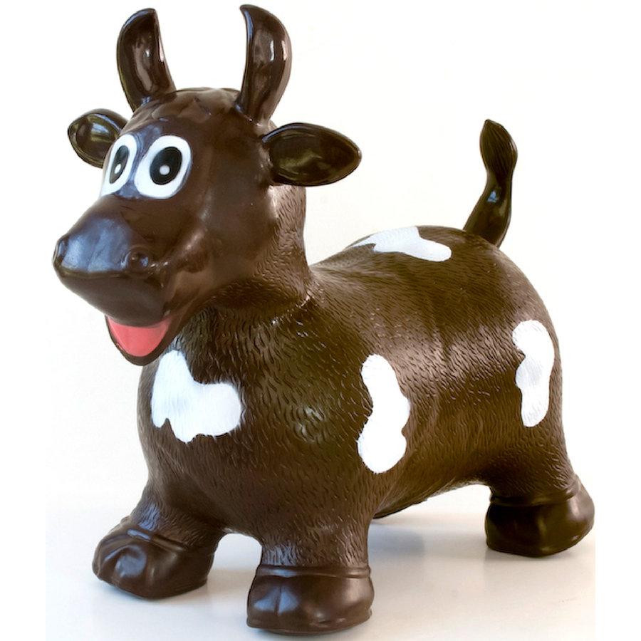 BabyGo Hopser - Hüpftier Braune Kuh bis 70 kg geeignet Bild 1