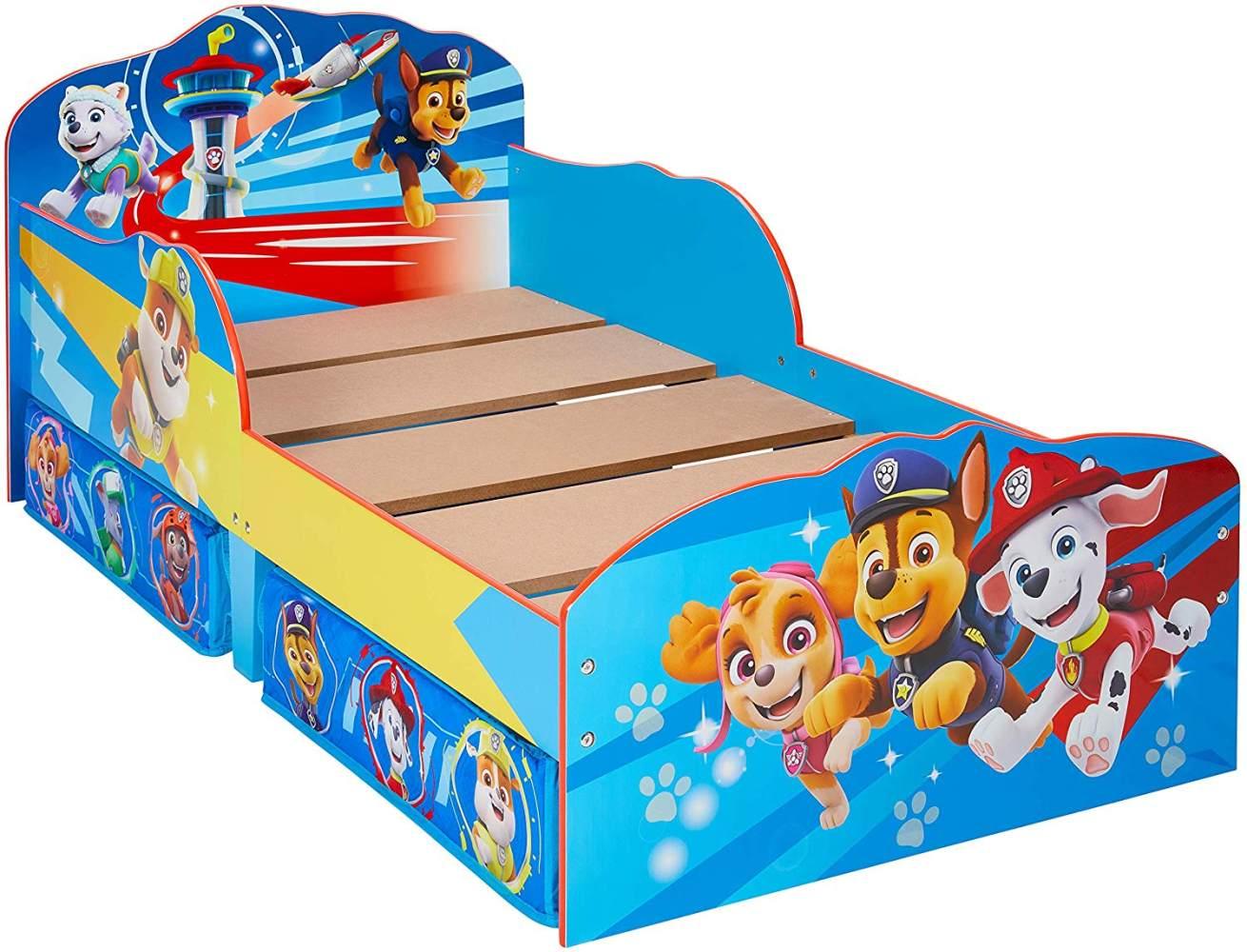 Moose Toys 'Paw Patrol' Kinderbett blau, 70 x 140 cm, mit Schubladen Bild 1