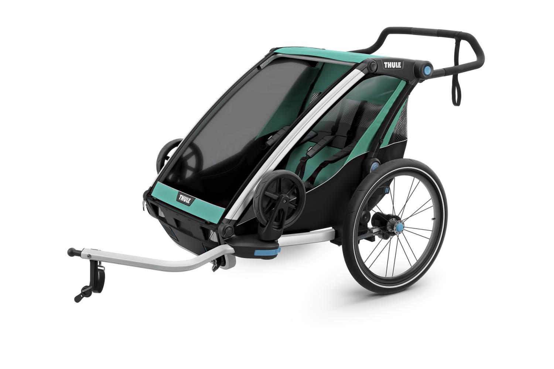 Thule 'Chariot Lite 2' Fahrradanhänger 2020 Blue Grass/Black, 2-Sitzer Bild 1