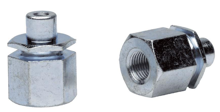 FOLLOW ME! Adapter Followme 3/8 X 26g, 9, 5mm Vollachse O. Riemen 2.zugf Adapter, Silber, 3/8 x 26G, 60651002 Bild 1