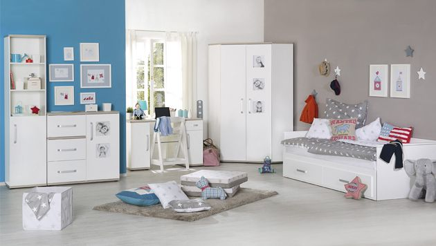 Roba 'Moritz' 3-tlg. Babyzimmer-Set Kommode breit Bild 1