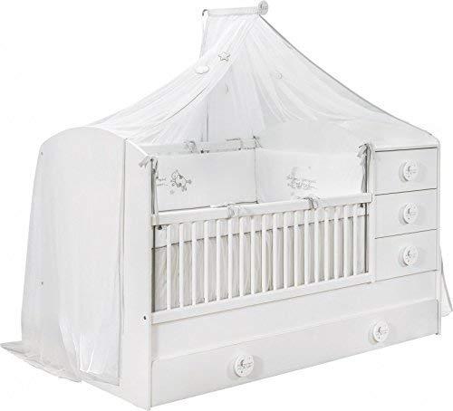 Cilek 'BABY COTTON' Kombi-Kinderbett weiß mit Matratze Bild 1