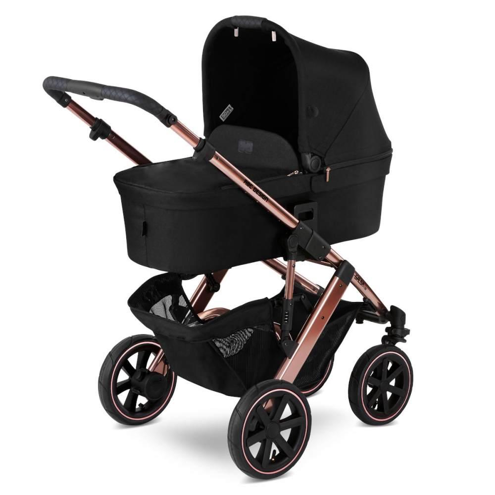 ABC Design 'Salsa 4 Air' Kombikinderwagen 4plusin1 Set L rose-gold inkl. Babyschale soho grey, Wickeltasche, Fußsack, Adapter und Basisstation Bild 1