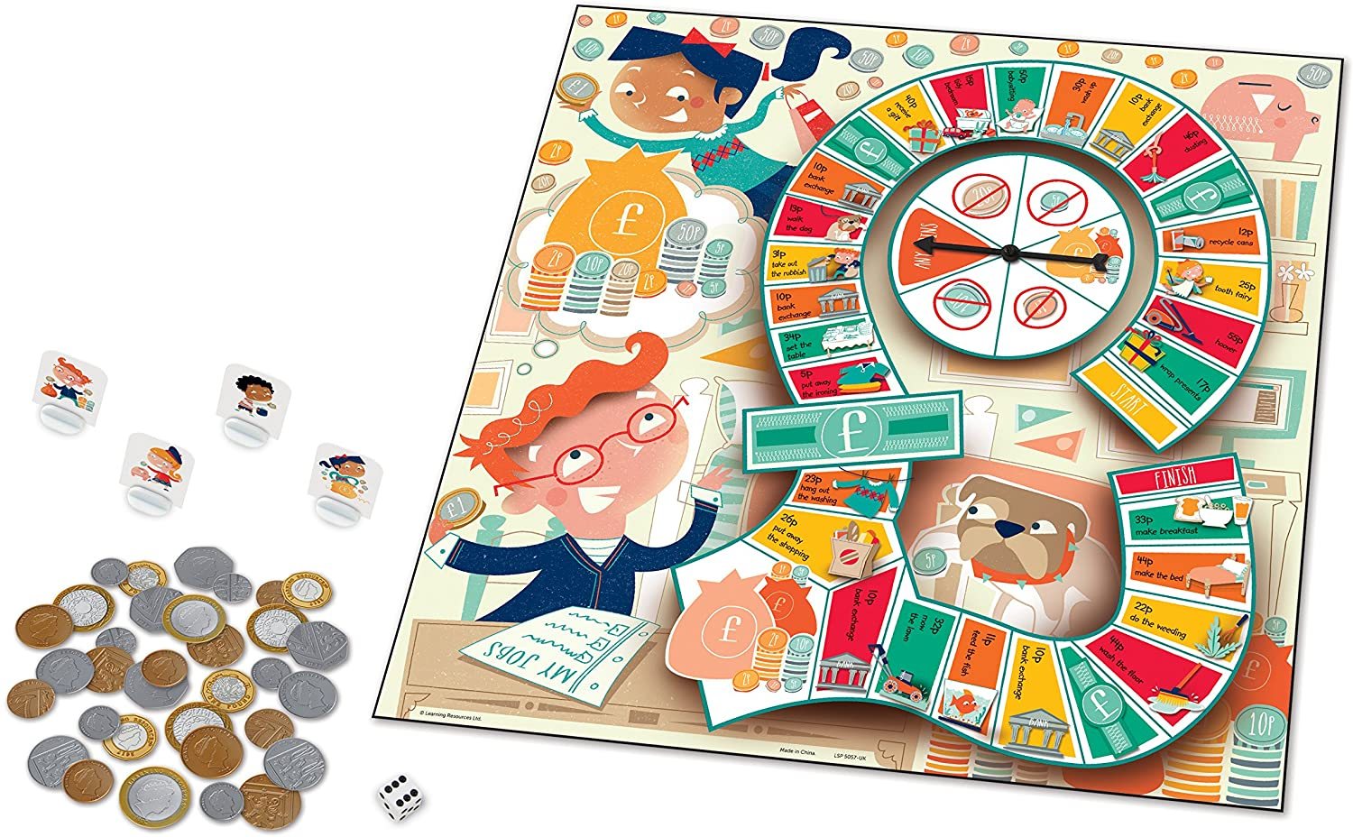 Learning Resources LSP5057-UK Money Bags Münzwert-Spiel Bild 1