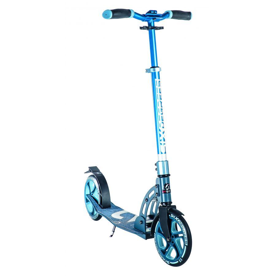 Six Degrees 509 'Aluminium Scooter 205 mm' Scooter, ab ca. 8 Jahren, 5-fach höhenverstellbar bis 102 cm, klappbar, max. belastbar bis 100 kg, blau Bild 1