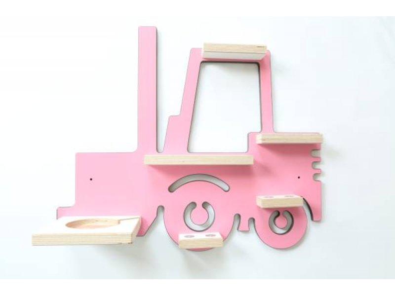 Schreinerei Linden 'Gabelstapler' Wandregal rosa für Tonie-Figur und Tonie-Box Bild 1