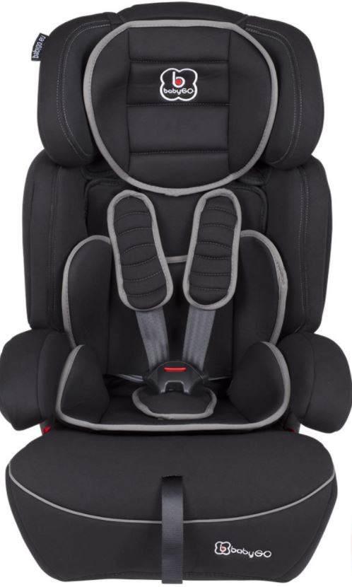 BabyGo 'Freemove' Autokindersitz in Schwarz, 9 bis 36 kg (Gruppe 1/2/3), umbaubar zur Sitzerhöhung Bild 1