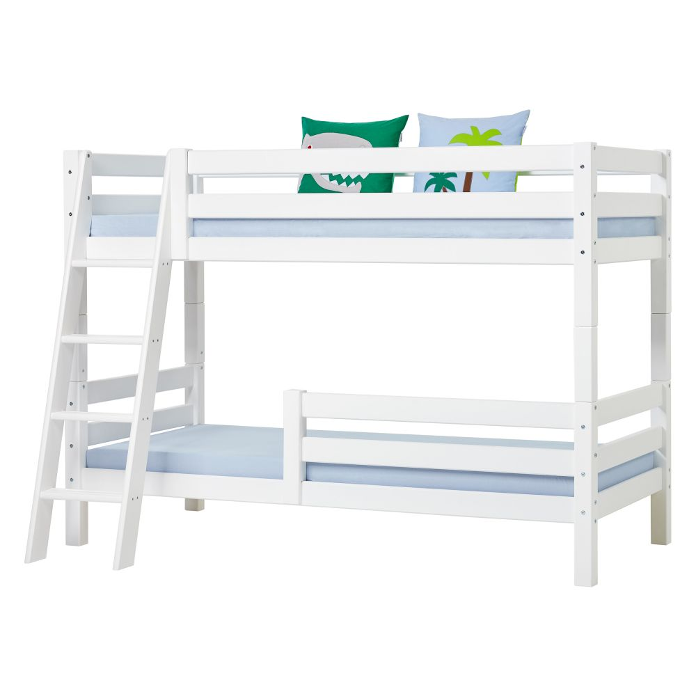 Hoppekids 'Premium' Etagenbett schräge Leiter, 90 x 200 cm, inkl. Rollroste und extra Schutzvorrichtung Bild 1