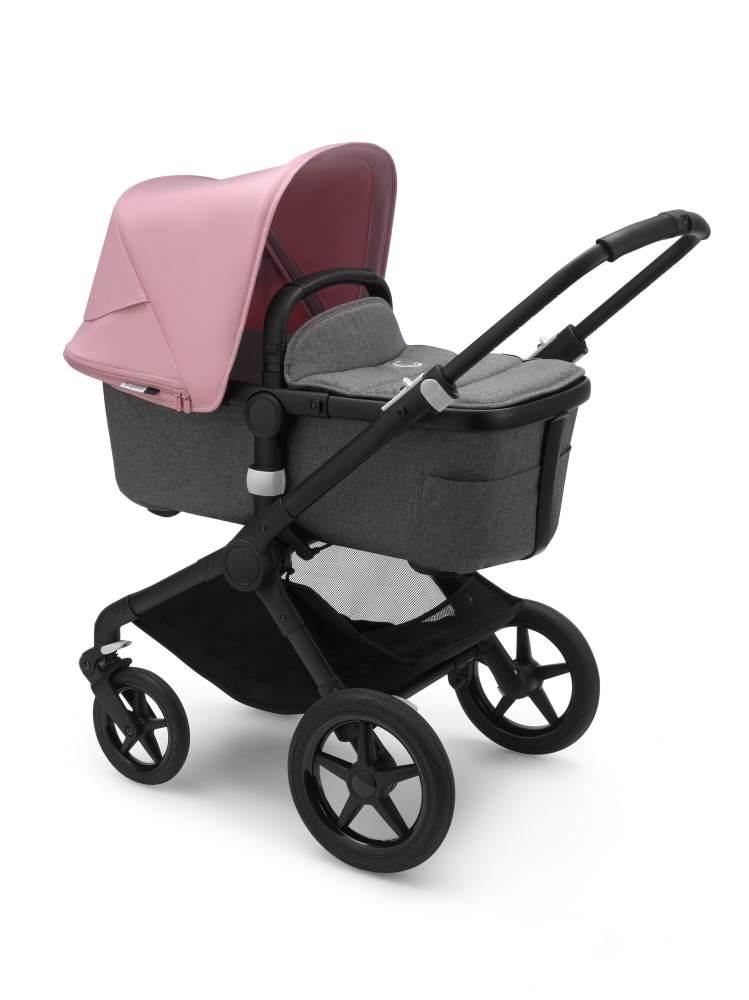 Bugaboo 'Fox2' Kombikinderwagen 2/1 Schwarz/Grau Meliert/Soft Pink Bild 1