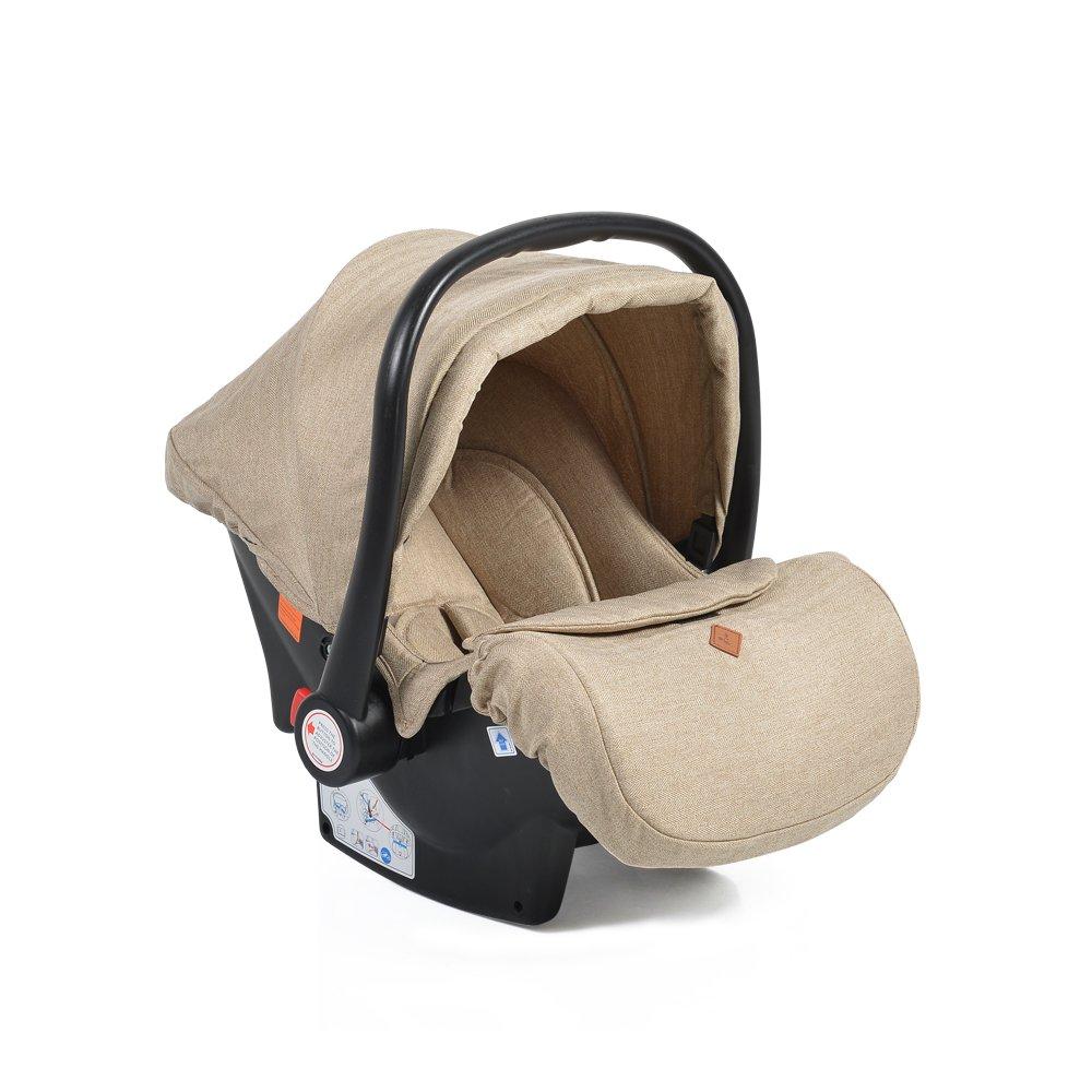 Cangaroo Babyschale Kindersitz Macan Gruppe 0+ (0 - 13 kg) Fußabdeckung Kissen beige Bild 1