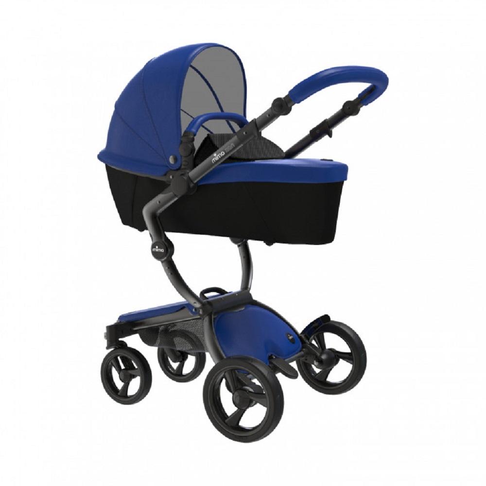 Mima Xari Design Kinderwagen Kollektion 2021 Schwarz (Schwarze Räder) Royal Blue Bild 1
