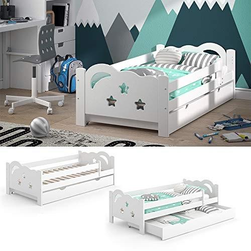 VitaliSpa 'Sari' Kinderbett 80 x 160 cm weiß, inkl. Schublade, Rausfallschutz Bild 1
