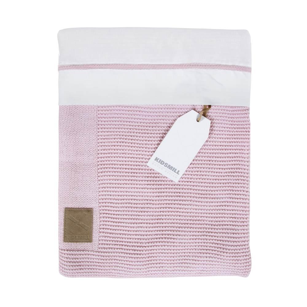Kidsmill Bettwäsche mit Reissverschluss für Wiege 80 x 80 cm, Rosa Bild 1