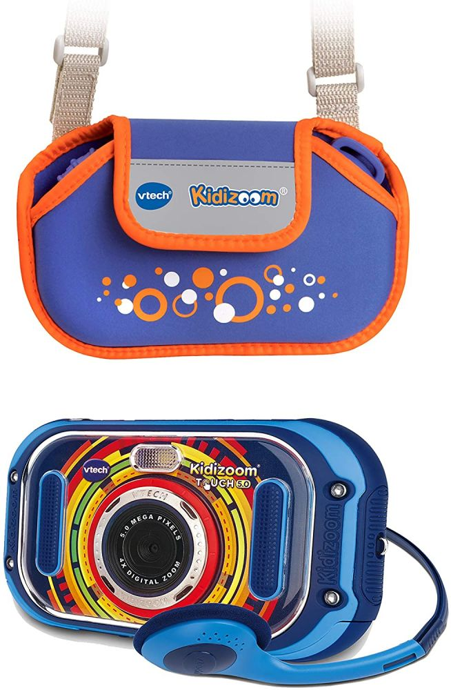 Vtech 80-163594 'KidiZoom Touch 5.0' Kinderkamera blau inkl. Tragetasche blau, ab 5 Jahren Bild 1