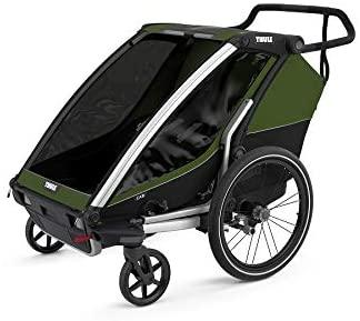 Thule 'Chariot' Fahrradanhänger Set + Thule Babysitz Cab Bild 1