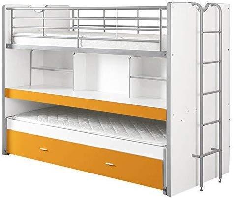 Vipack 'Bonny' Funktionsetagenbett weiß/orange Bild 1