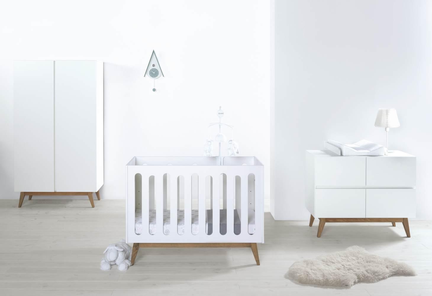 Quax 'Trendy White' 3-tlg. Babyzimmer 60x120cm/3-Türig Bild 1