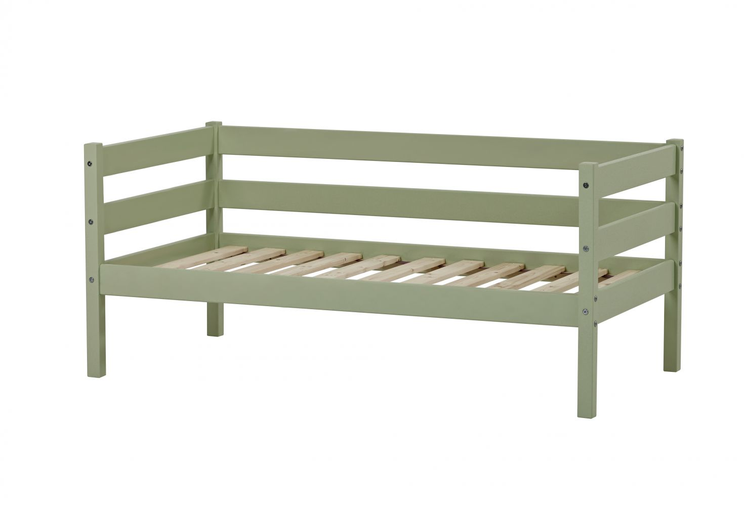 Hoppekids 'Ida-Marie' Einzelbett, pale green, Kiefer massiv, inkl. Rolllattenrost, 70x160cm, nachhaltig Bild 1