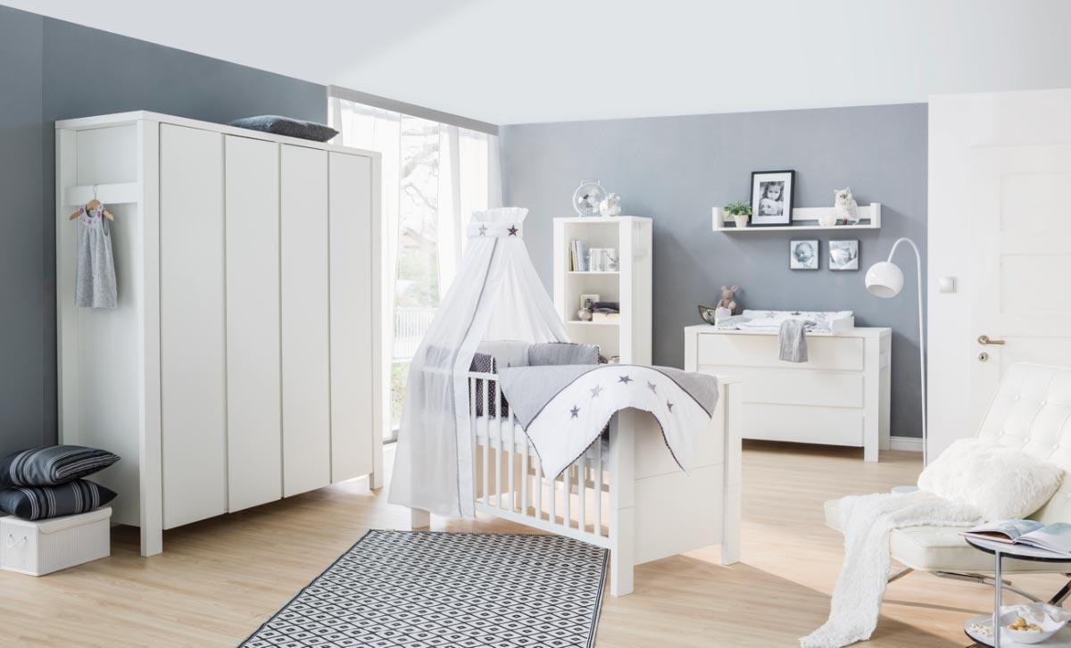 Schardt 'Milano' 3-tlg. Babyzimmer-Set Schrank 4-türig Bild 1