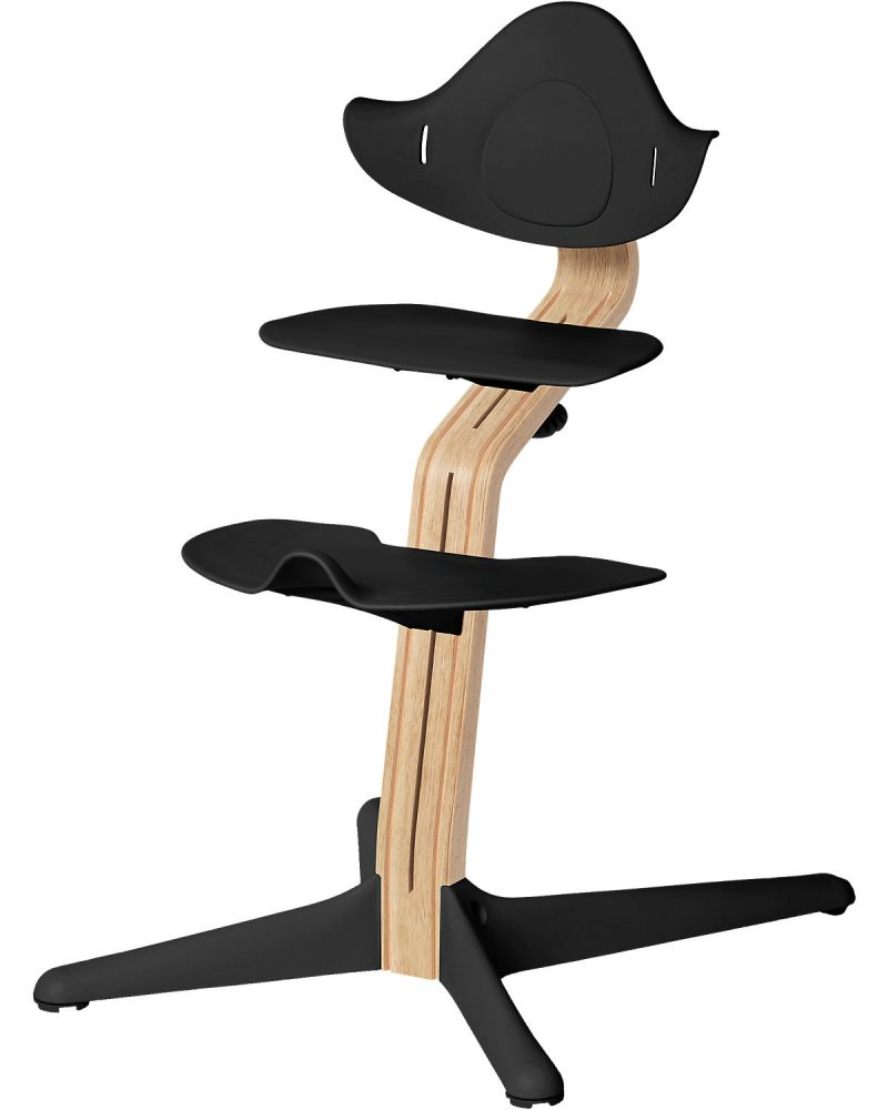 Evomove 'Nomi' Hochstuhl (Mittelsäule + Kunststoffelemente) weiß geölt, black Bild 1