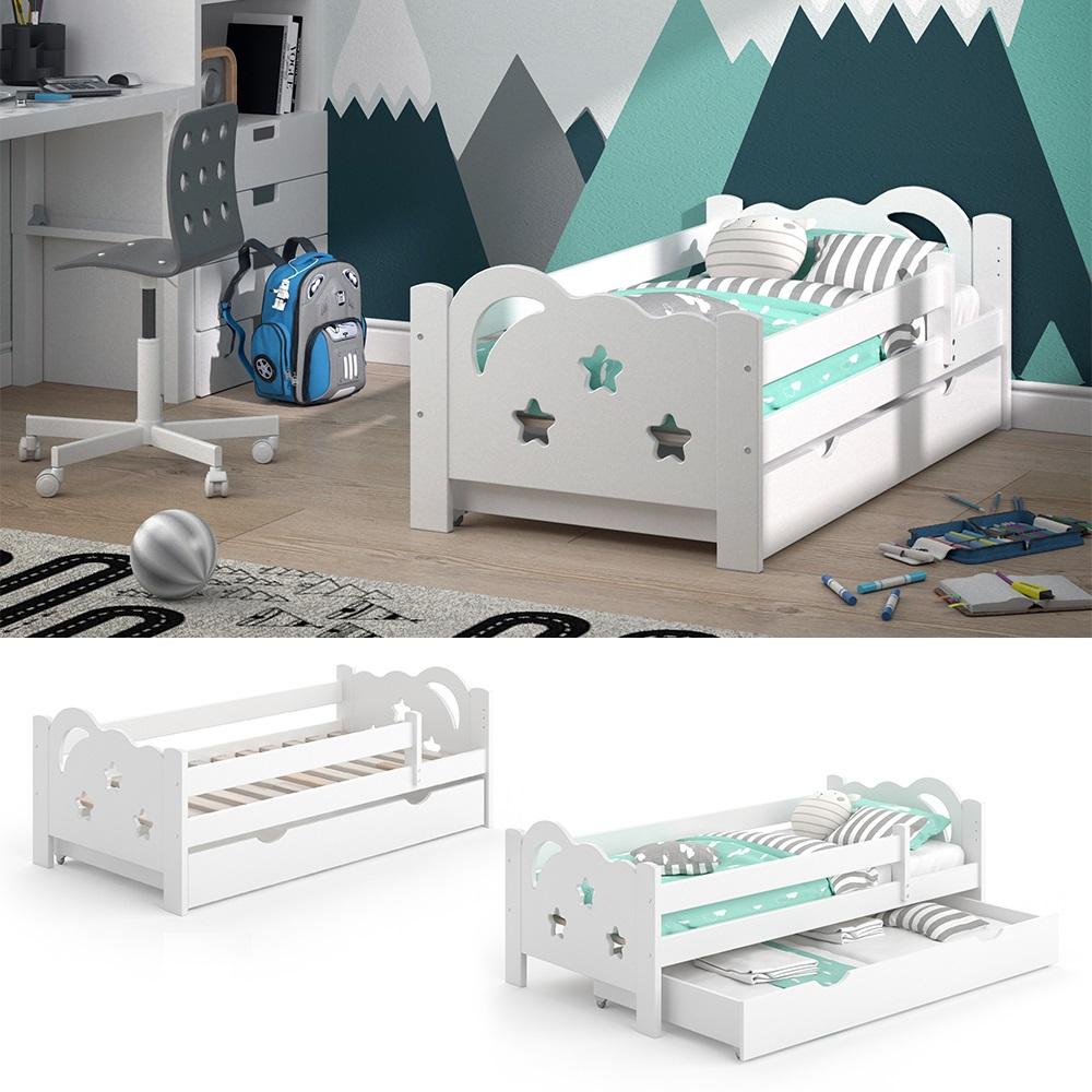 VitaliSpa 'Sari' Kinderbett 70 x 140 cm weiß, inkl. Schublade, Rausfallschutz ohne Matratze Bild 1
