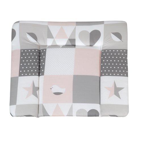 Roba 'Happy Patch' Wickelauflage 75 x 85 cm rosa Bild 1