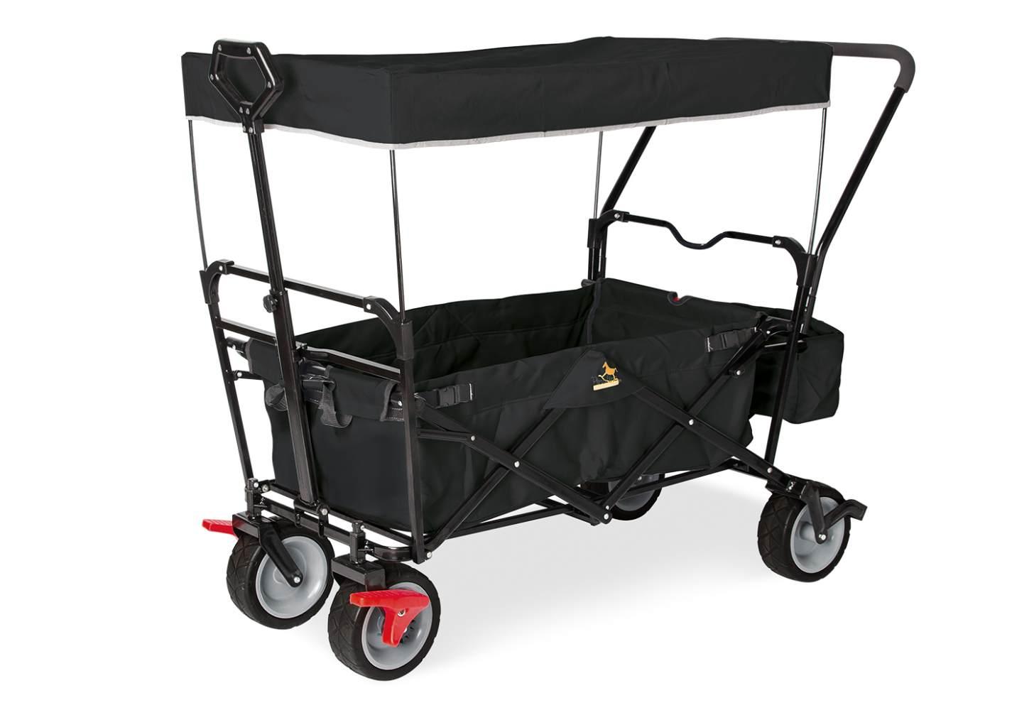 Pinolino 'Paxi dlx Comfort' Klappbollerwagen in Schwarz, inkl. Feststellbremse, Sonnendach, Hecktasche und Schiebegriff Bild 1
