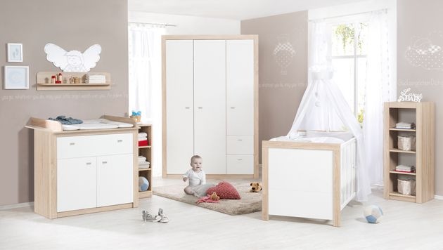 Roba 'Leni 2' 3-tlg. Babyzimmer-Set Schrank 2-türig Bild 1