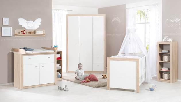 Roba 'Leni 2' 3-tlg. Babyzimmer-Set Schrank 3-türig Bild 1