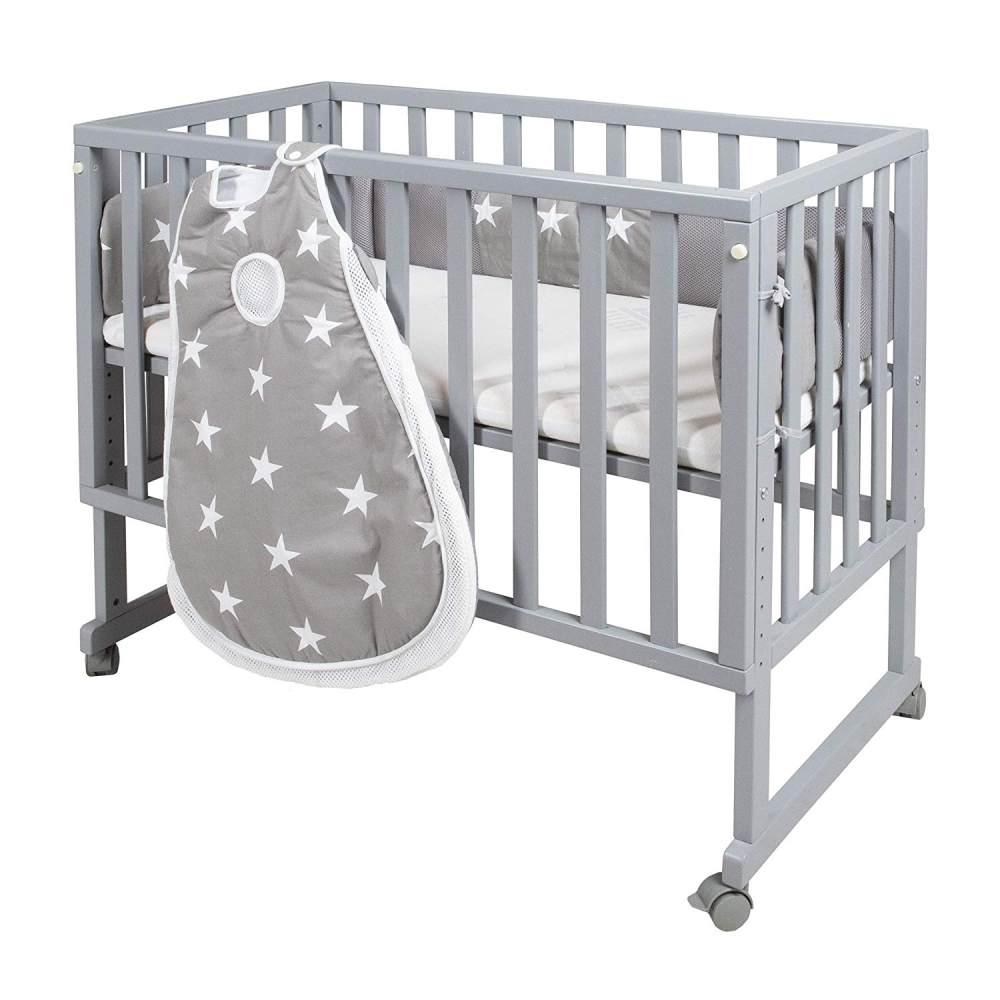 Roba 'Little Stars' 3 in 1 Stubenbett, taupe, inkl. Matratze, Nestchen und Schlafsack, 10-fach höhenverstellbar Bild 1